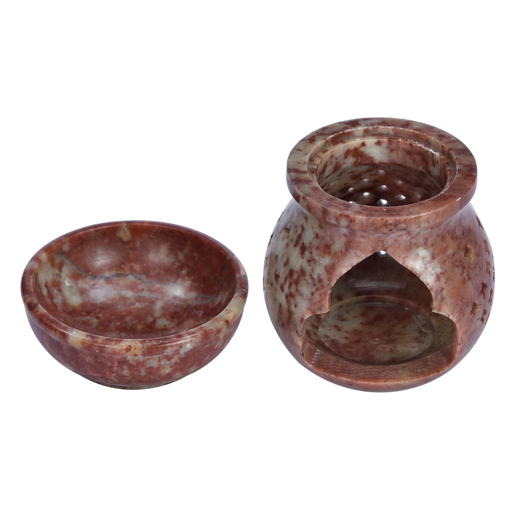 Cortez Handcrafted Soapstone Oil Burner