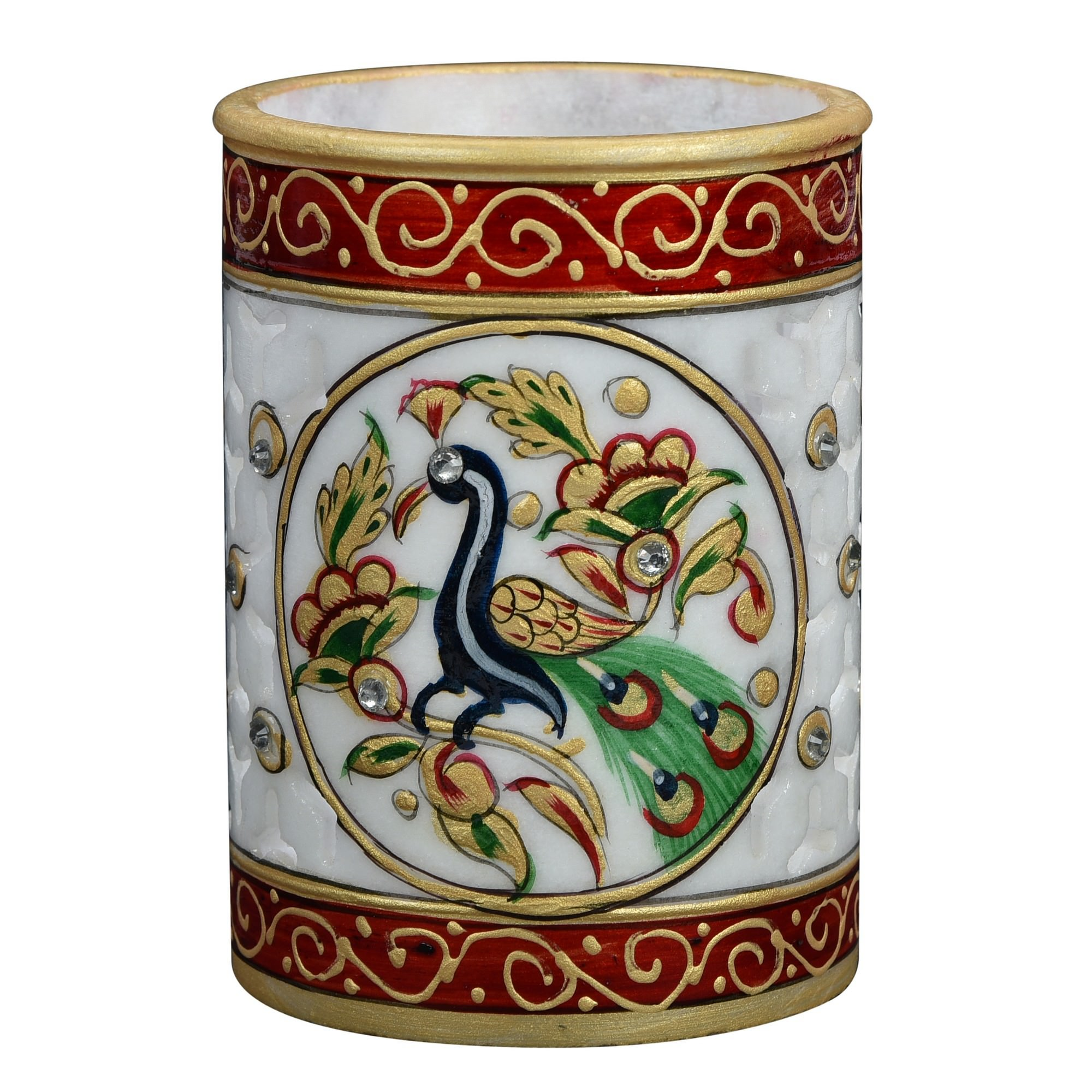 Madrid Hand Painted Marble Pen Holder