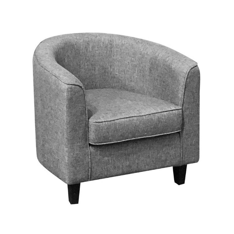 Mac Linen Fabric Tub Chair, Grey