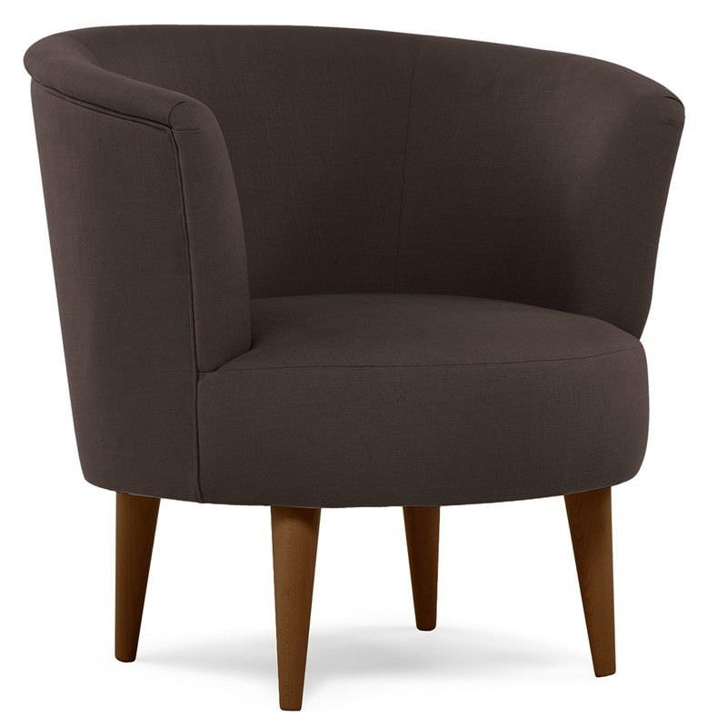 Stephano Fabric Tub Chair Brown