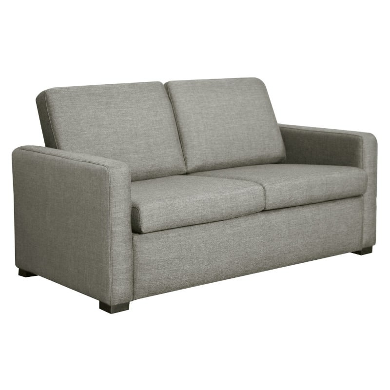 Earvin Linen Fabric Pull Out Sofa Bed, Double, Taupe