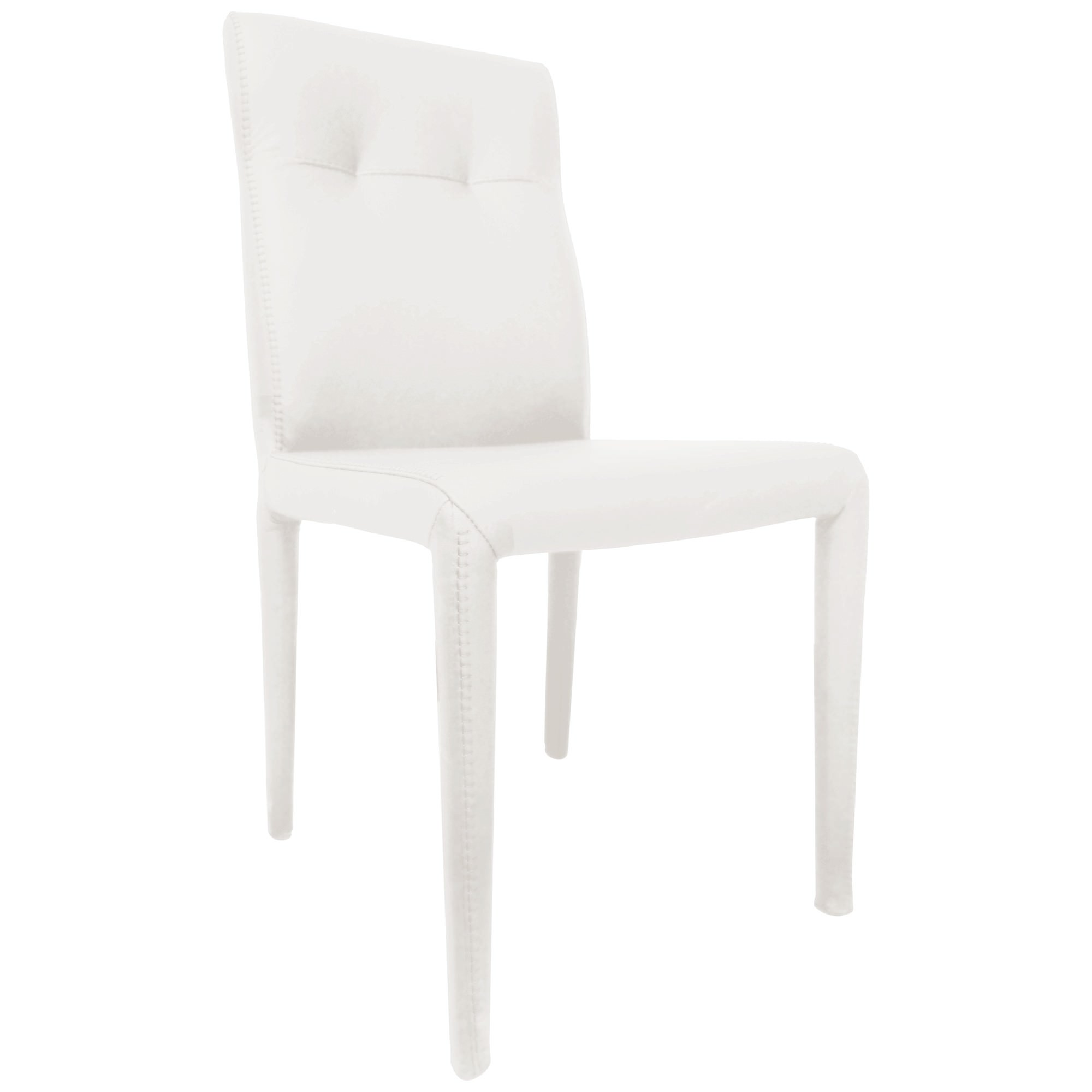 Winter Leather Dining Chair, White