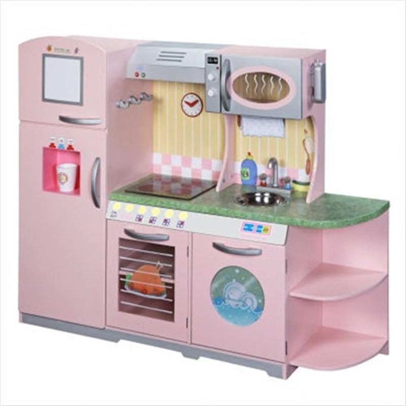 Teamson Dolls House  Pink Grand Kitchen