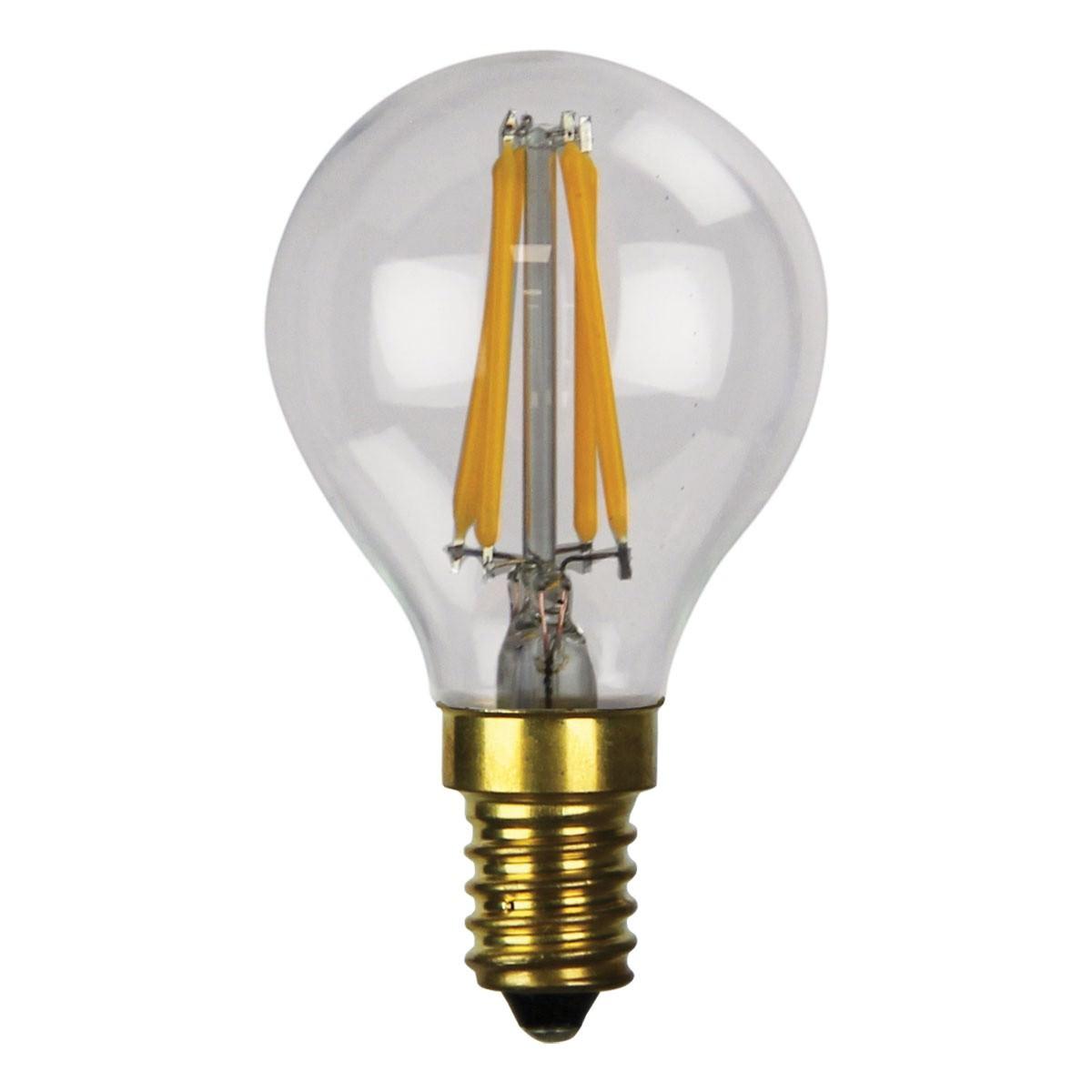 Allume G45 Dimmable LED Filament Globe, E14, 2700K, Clear