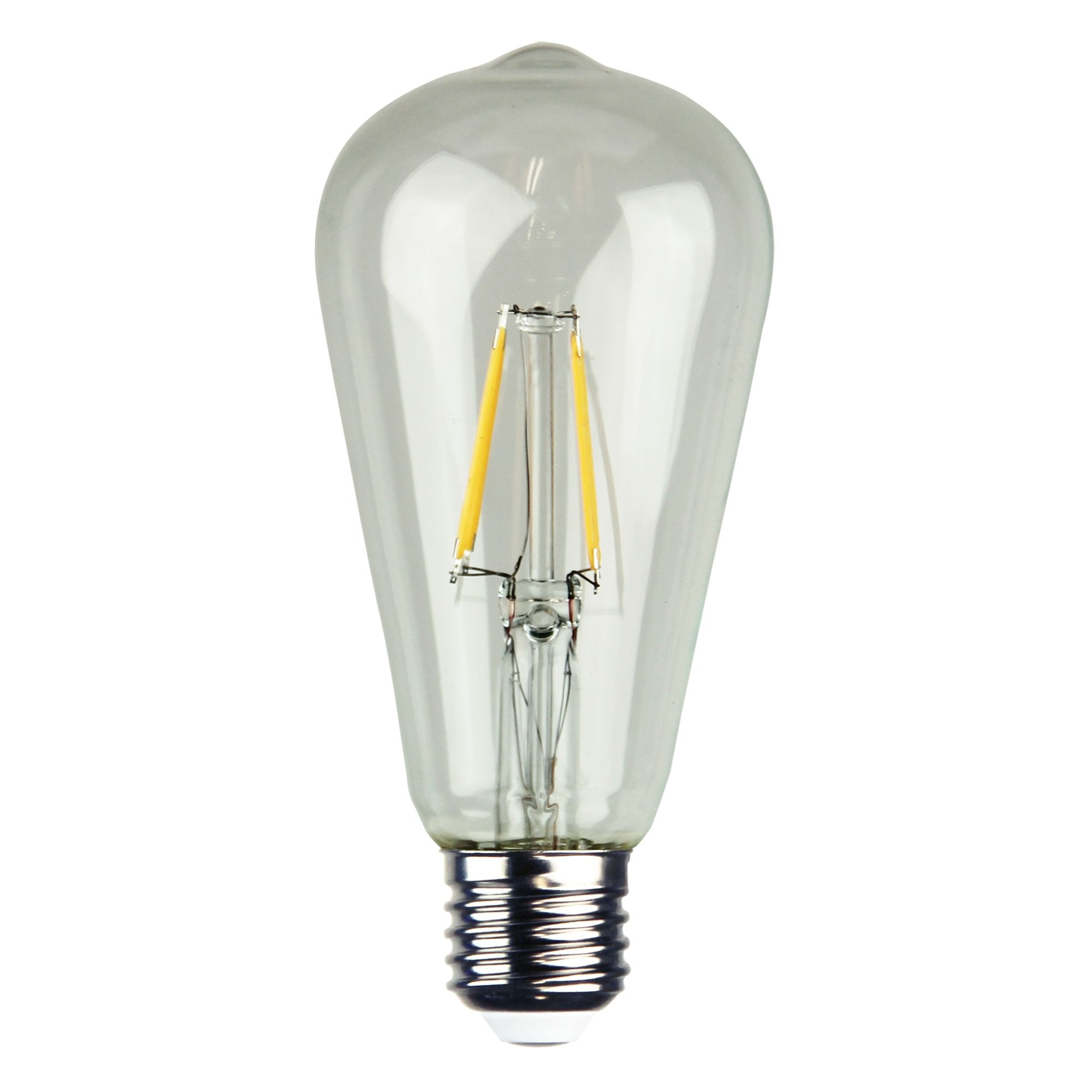 Allume ST64 Dimmable LED Filament Globe, E27, 2700K, Clear