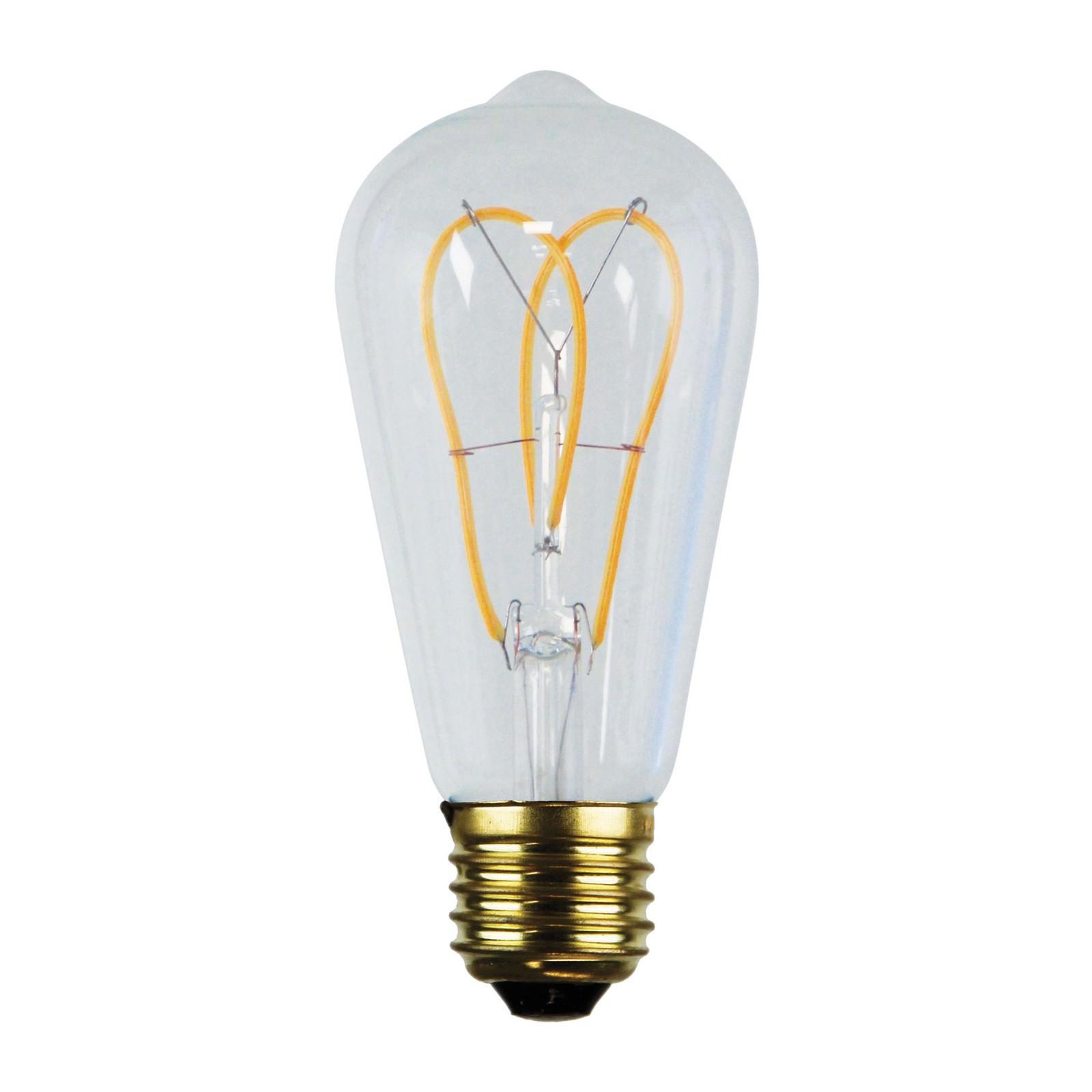 Allume Dimmable LED Twin Loop Filament Globe, E27, 2200K, ST64 Shape