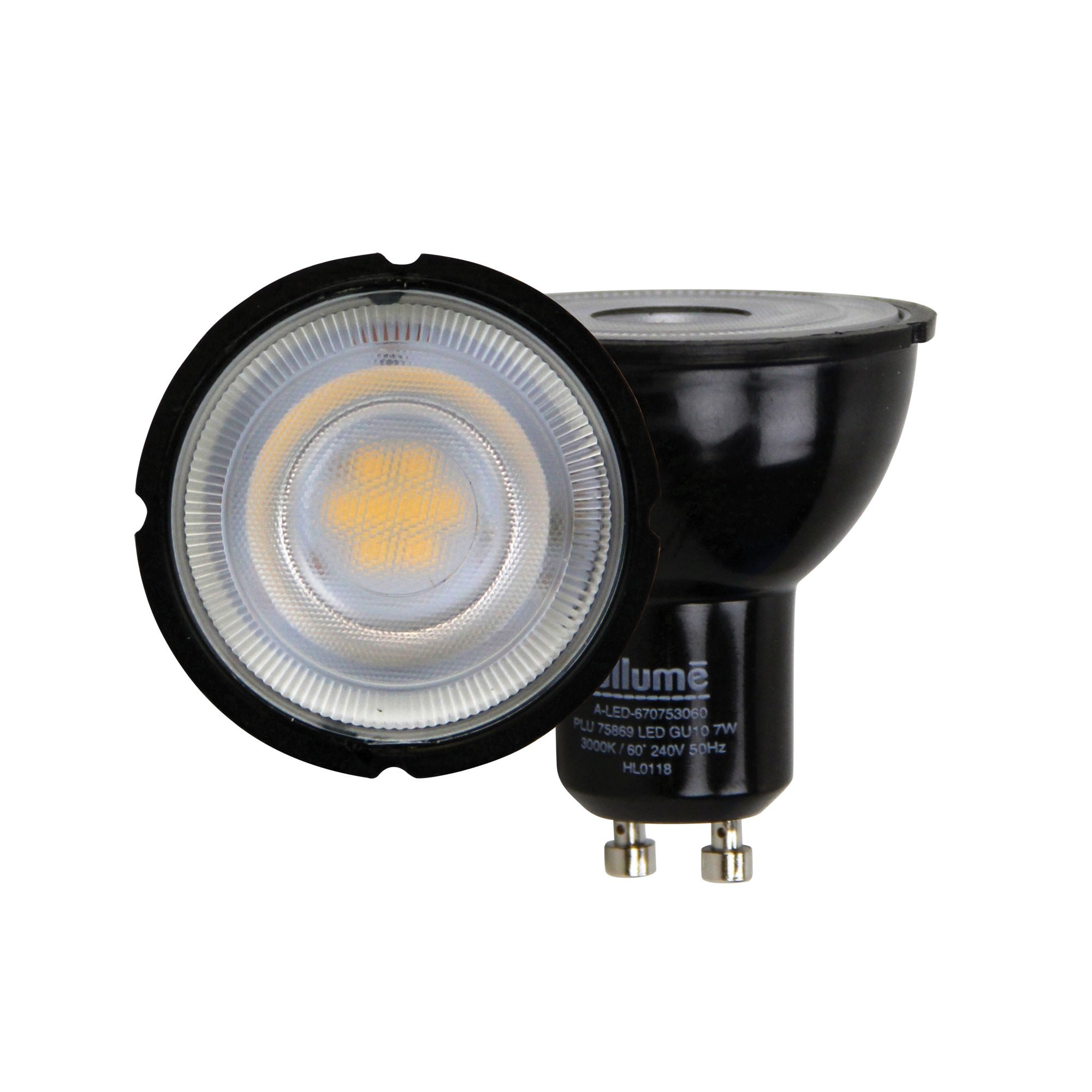 Allume LED Globe, 7W, GU10, 5000K, Black