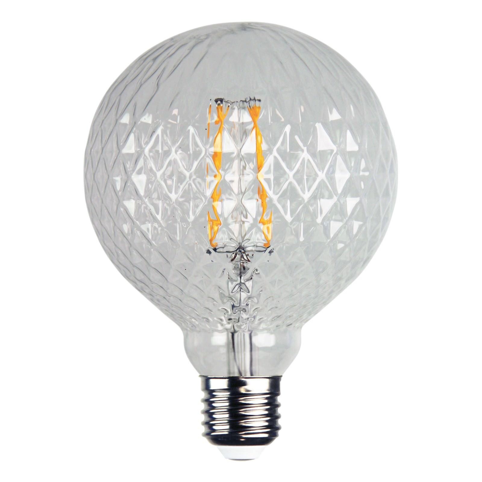Allume Crystal LED Filament Globe, E27, 2200K, G125 Shape