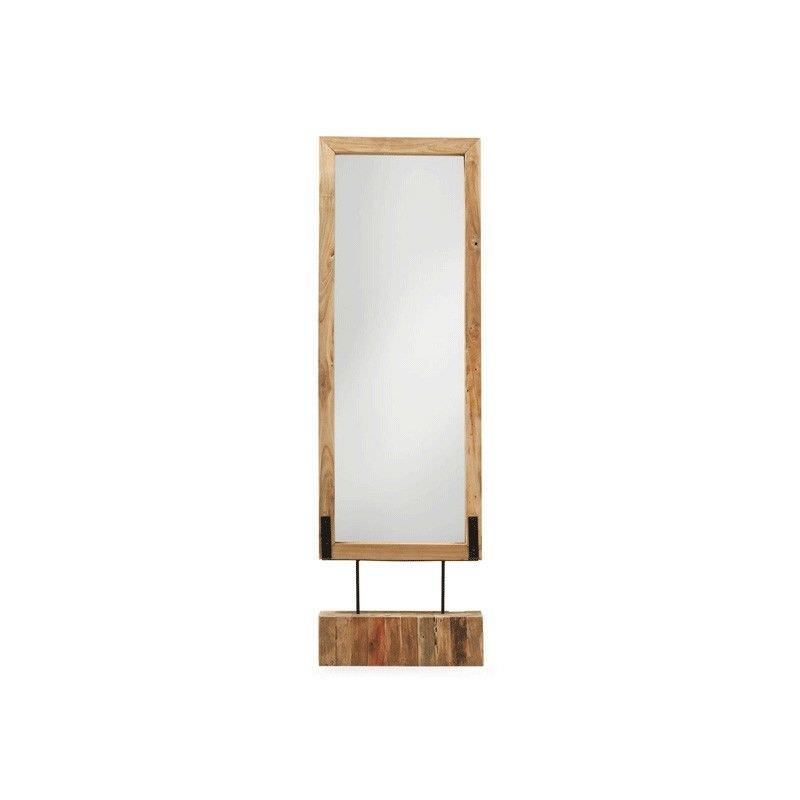Hampson Solid Teak Timber Frame Free Standing Floor Mirror