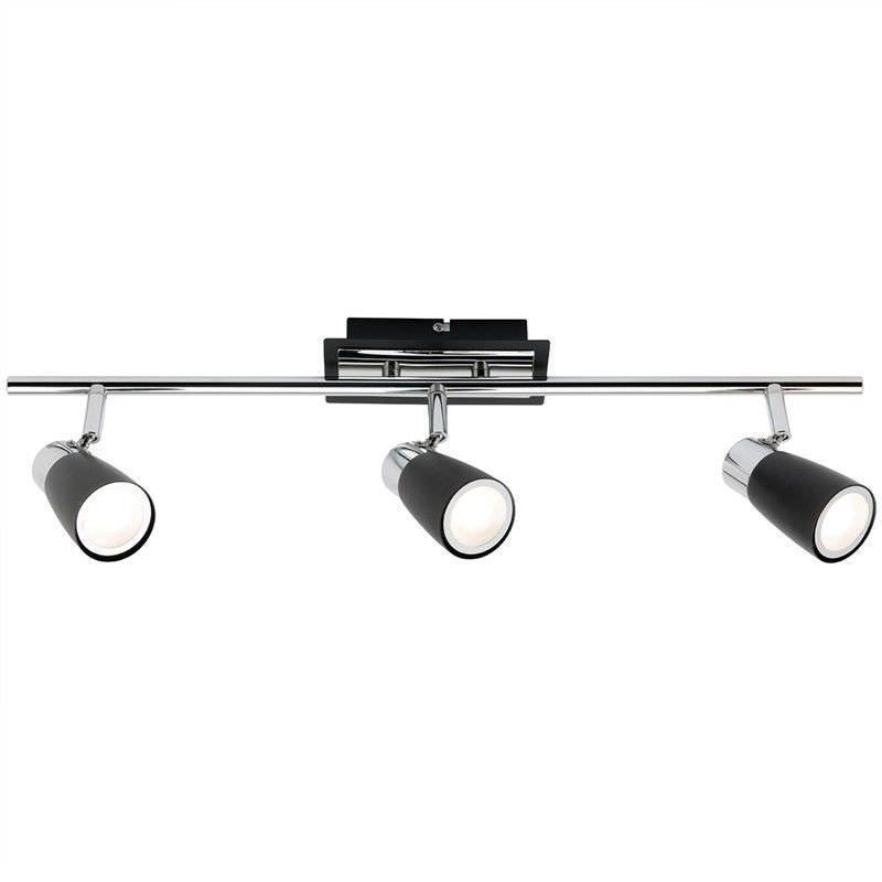 Alecia 3 Light Spotlight Bar, Black