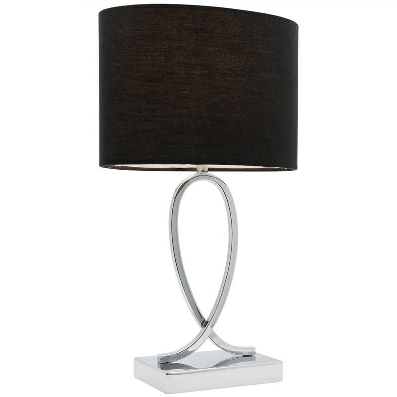 Campbell Touch Table Lamp, Small, Black Shade