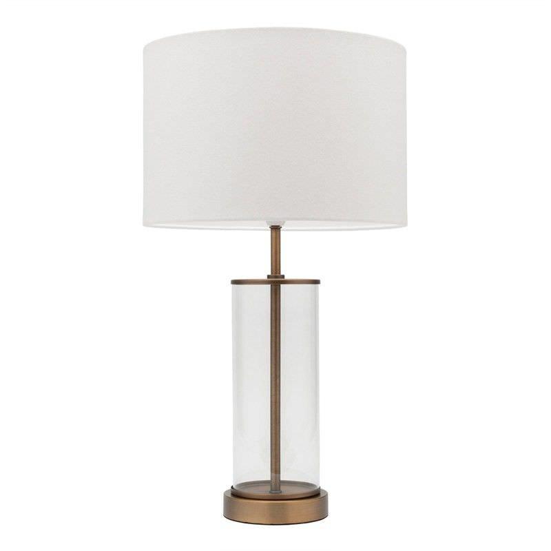 Sonya Metal & Glass Table Lamp