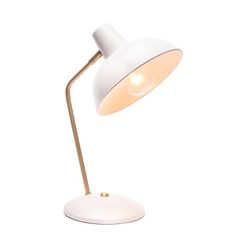 Lucy Metal Desk Lamp, White