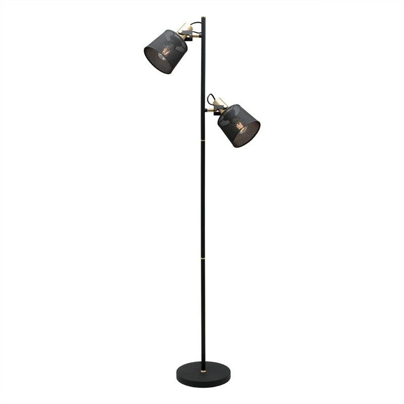 Arizona 2 Light Metal Floor Lamp