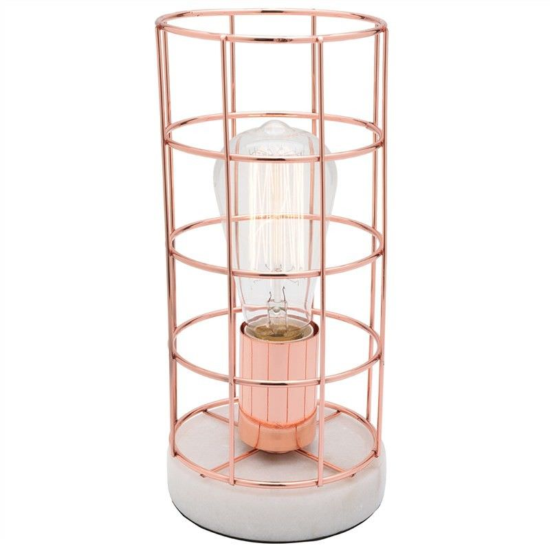 Harriet Metal Table Lamp, Copper/White