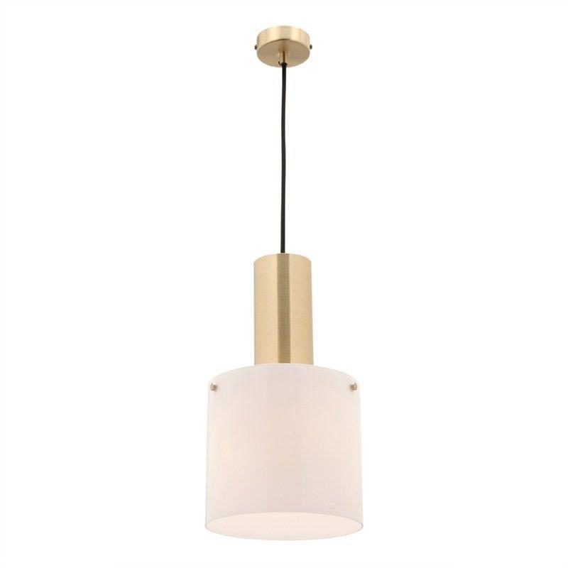 Brooklyn Glass Shade Pendant Light, Brass