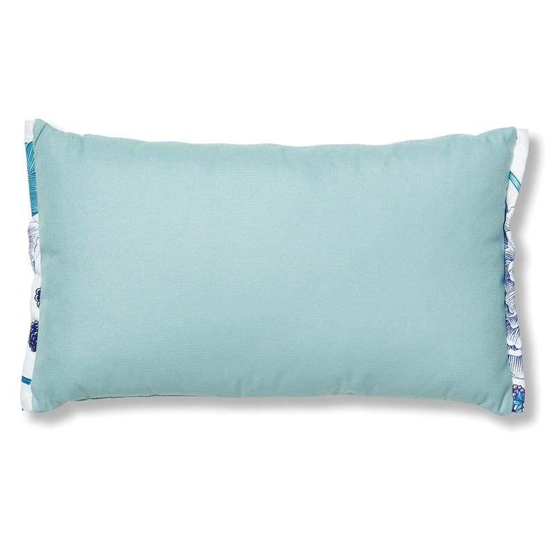 Chaplin Indoor/Outdoor Fabric Rectangular Cushion - Verde Aqua