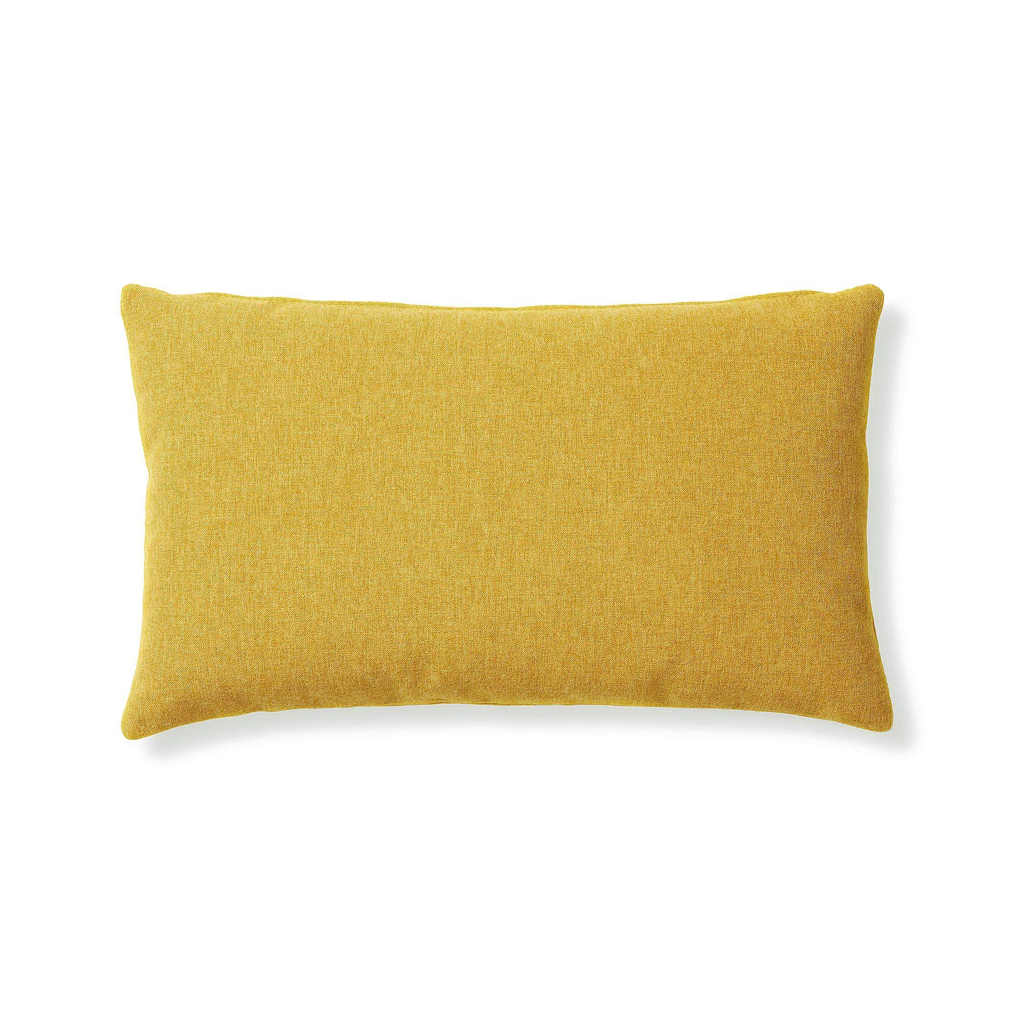Franco Fabric Lumbar Cushion, Mustard