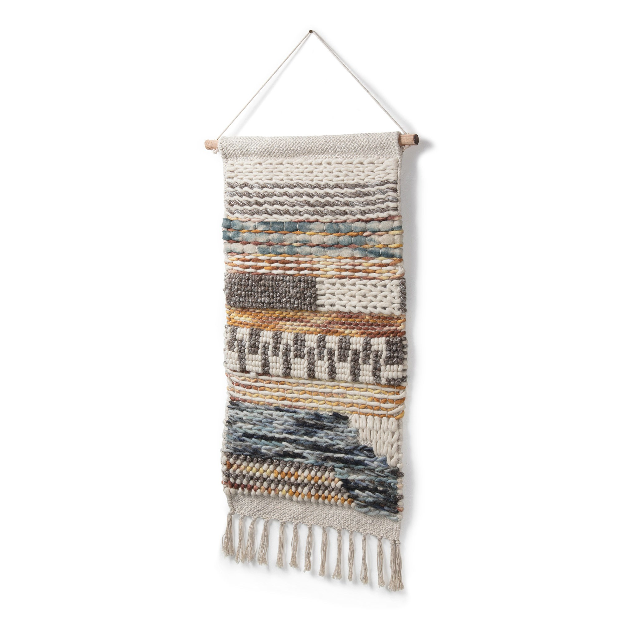 Elicia Hand Knited Cotton & Wool Wall Tapestry