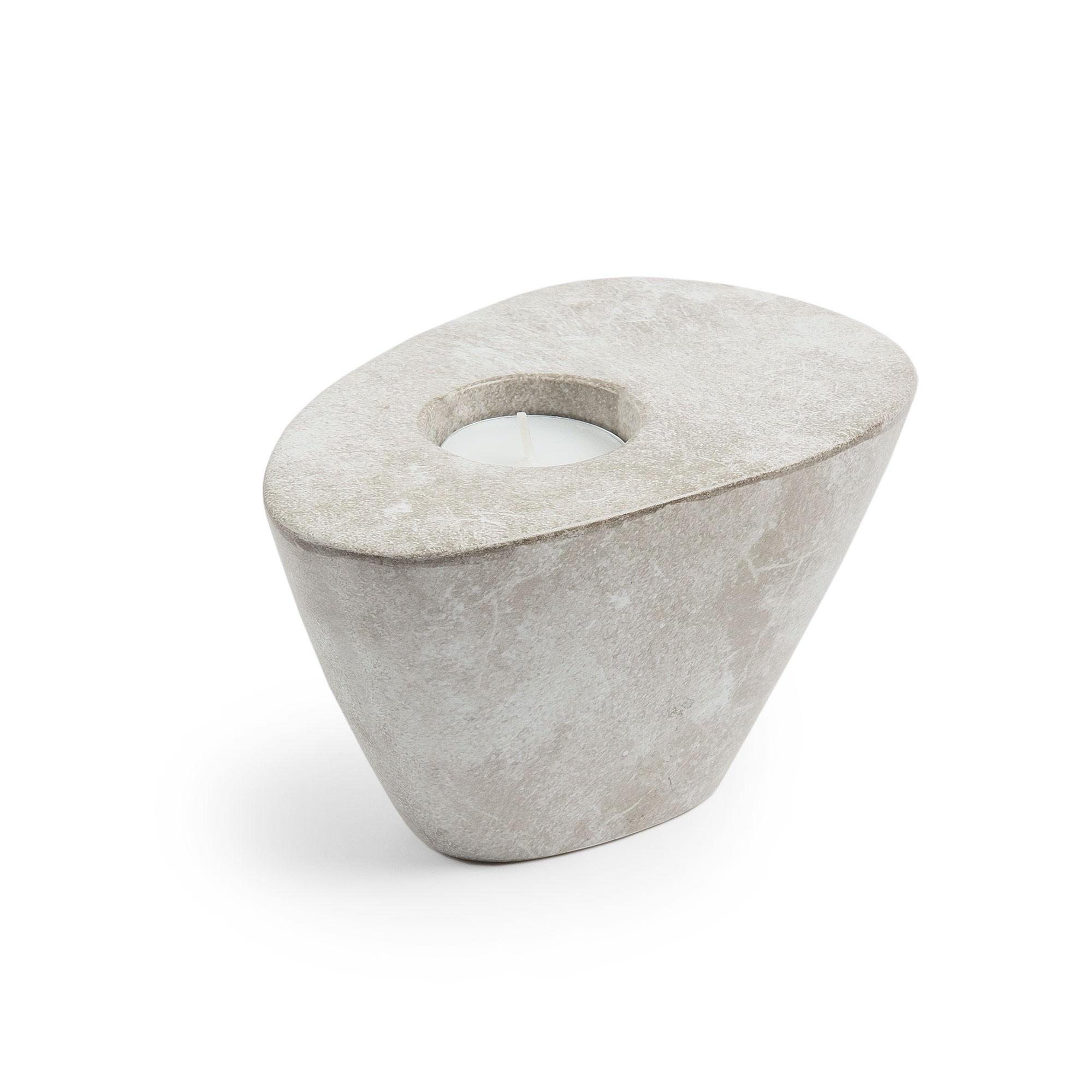 Maloney Ceramic Tealight Holder, Stone