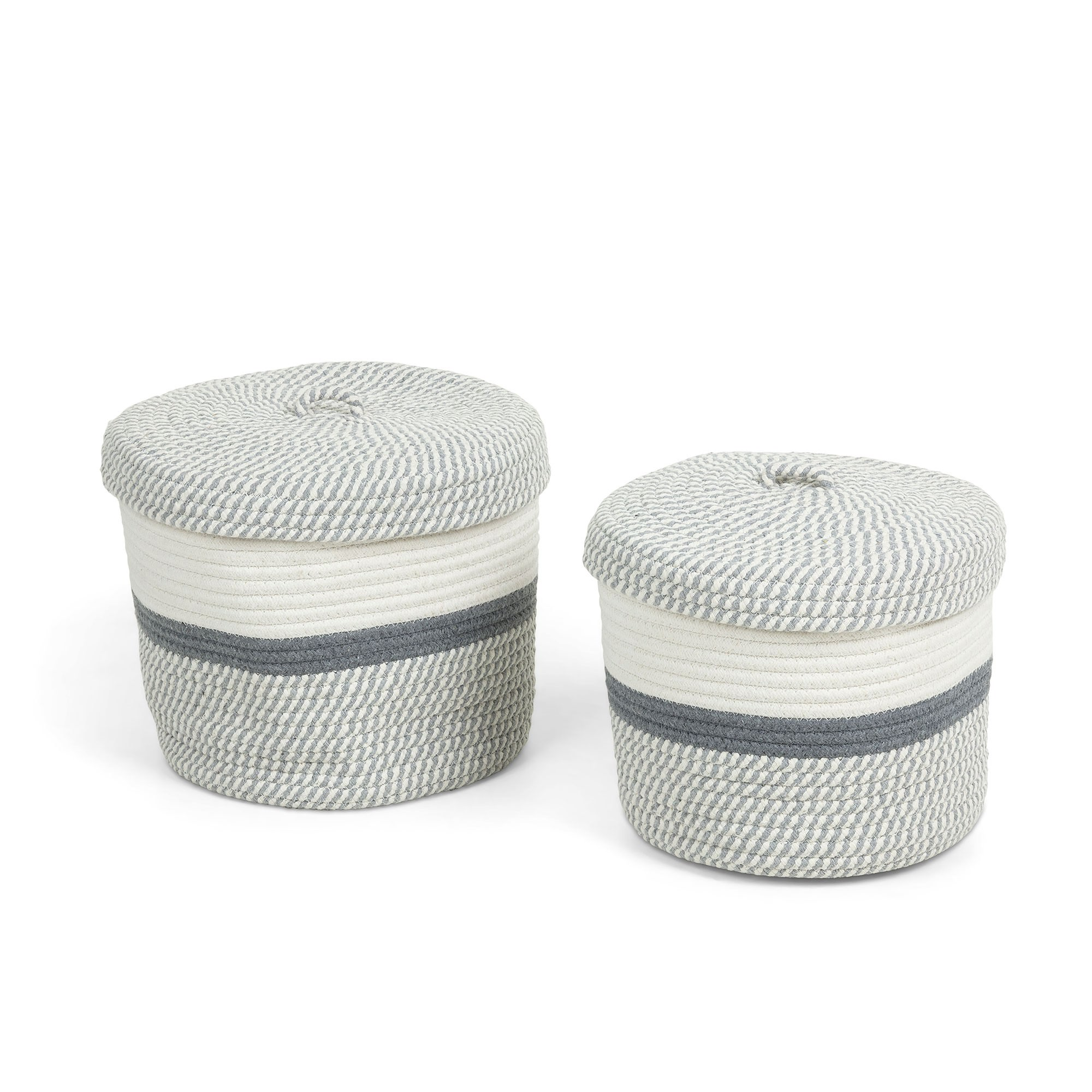 Marlon 2 Piece Rope Hamper Set