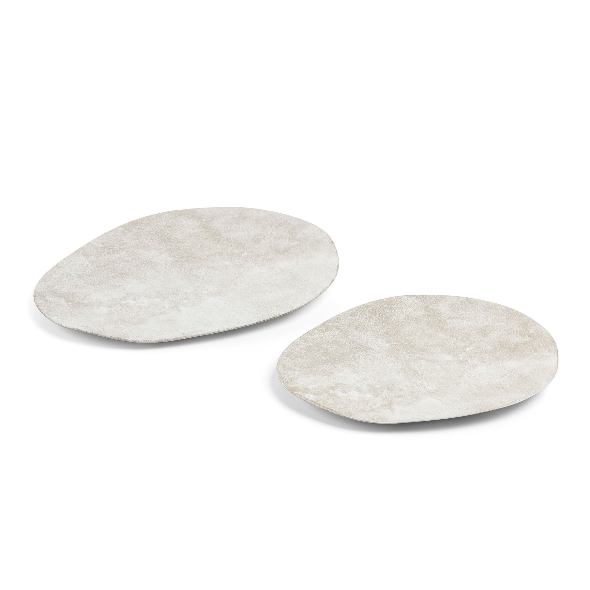 Maloney 2 Piece Ceramic Pepple Plate, Stone