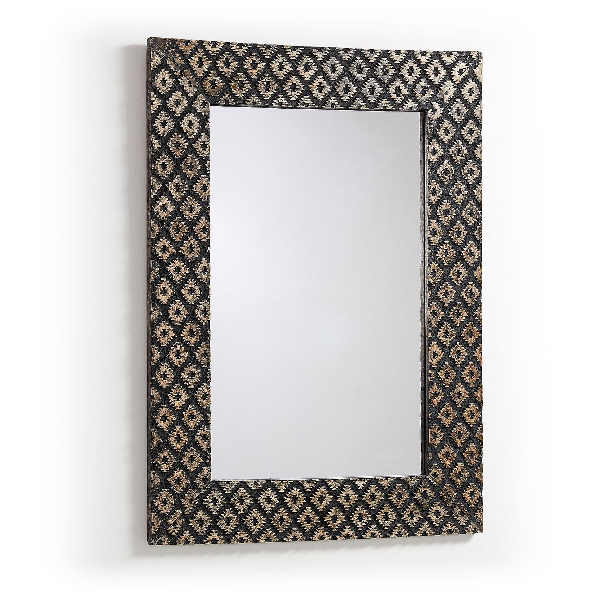 Samad Mango Wood Framed Wall Mirror, 78cm