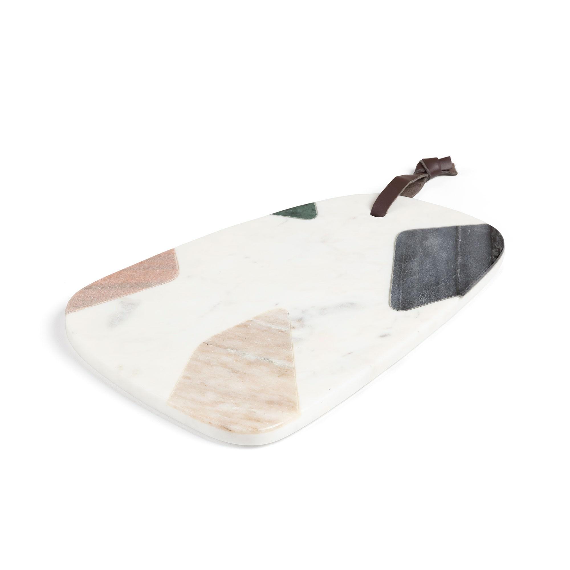 Ainsworth Marble Quadrilateral Serving Board, 30x20cm, Multi