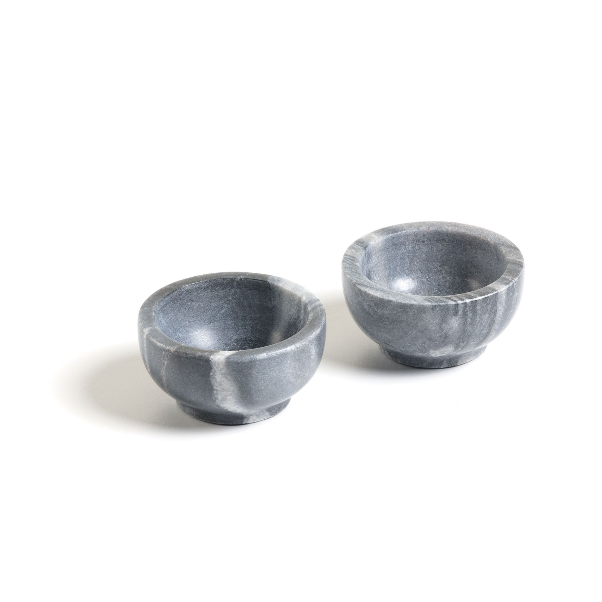 Rossmore Marble Condiment Bowl, Set of 2, Grey