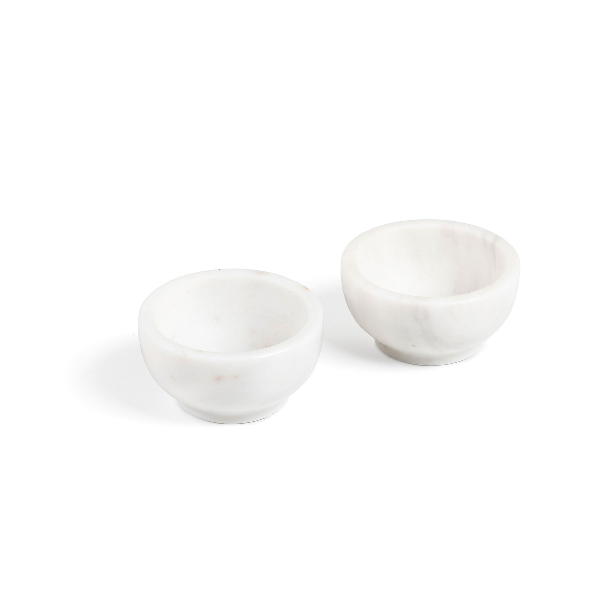 Rossmore Marble Condiment Bowl, Set of 2, White