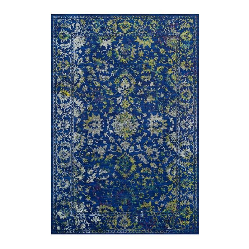 Abrasion Tabriz Rug, 160x230cm, Blue
