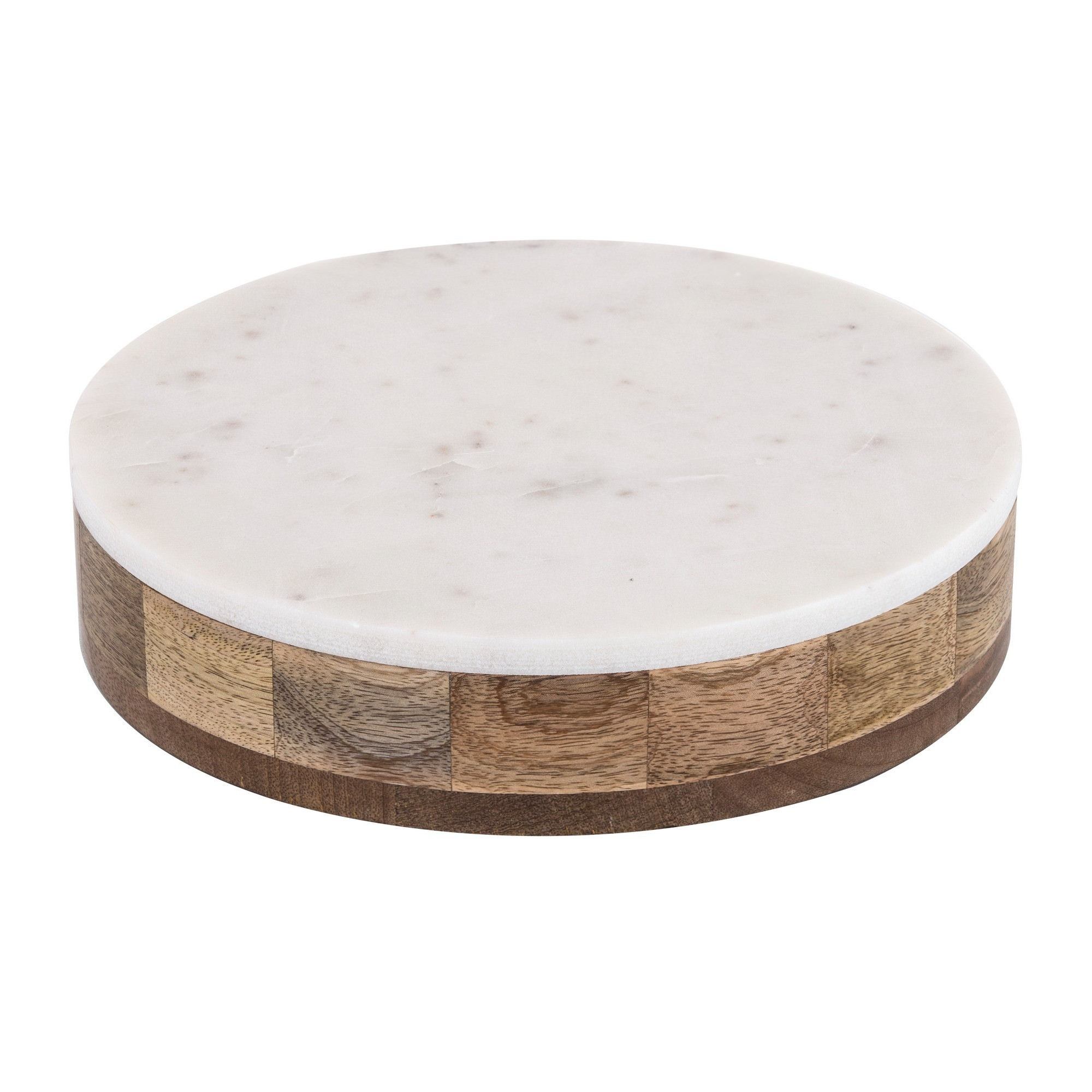 Eliot Mango Wood Bowl with Marble Serving Lid