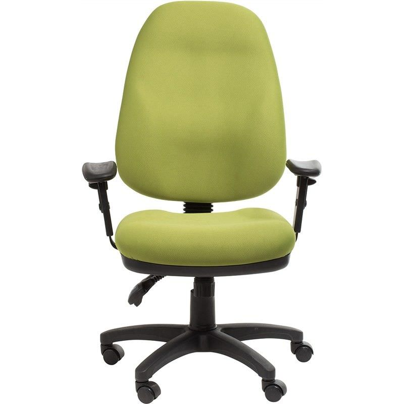 Sydney Commerical Grade Adjustable Fabric Office Armchair - Green