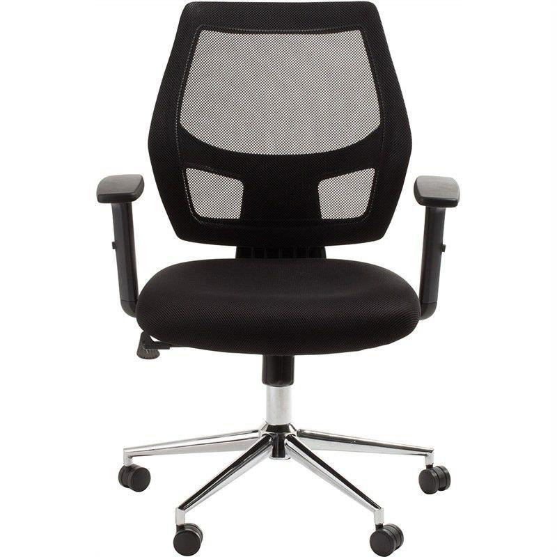 Metro Adjustable Fabric Office Armchair - Black
