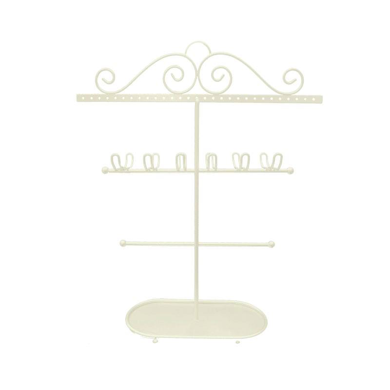 Noranda Metal Jewellery Stand, Ivory