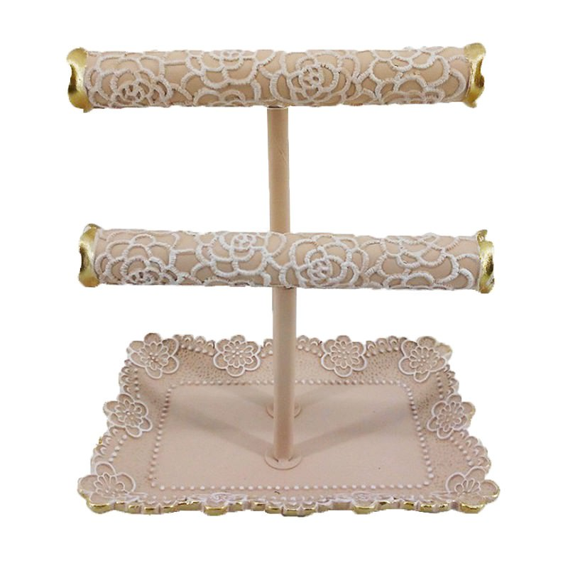 Rose Lace Jewellery Holder, Blush