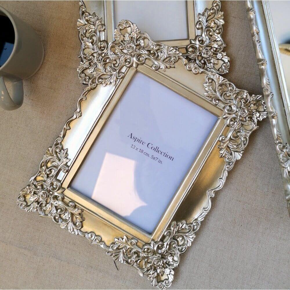 "Barocco Photo Frame, 5x7"", Champagne"