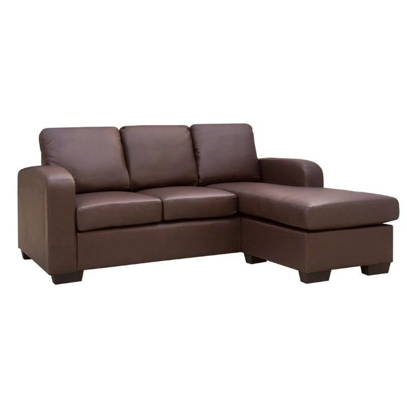 Black Eden Leather 3 Seater Sofa Lounge Couch with Chaise