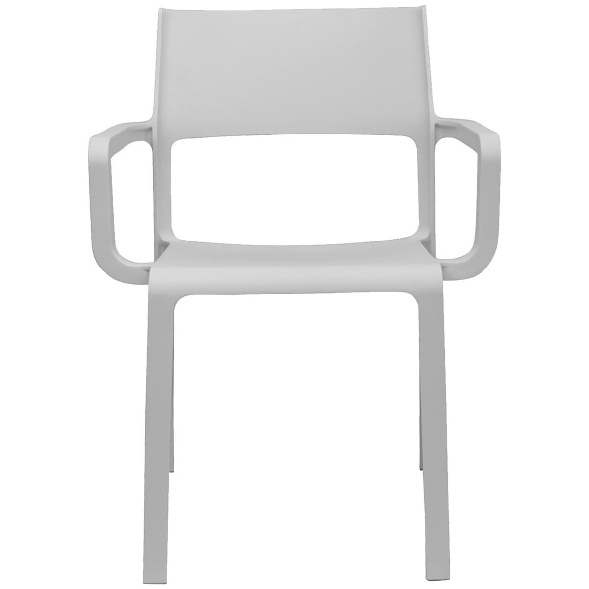 Trill Italian Made Commercial Grade Indoor / Outdoor Dining Armchair, White