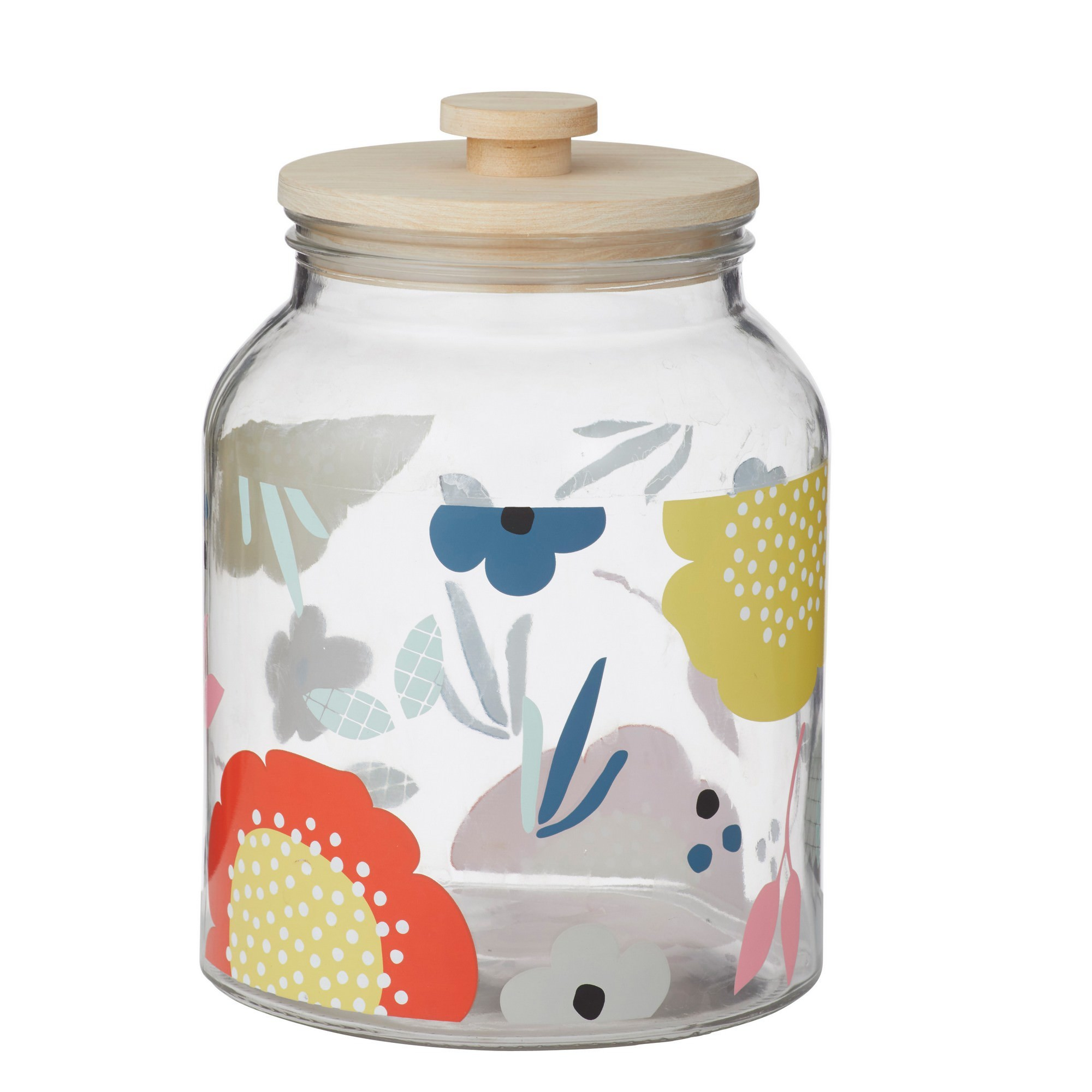 Anna Gare Elsie Glass Canister with Wooden Lid
