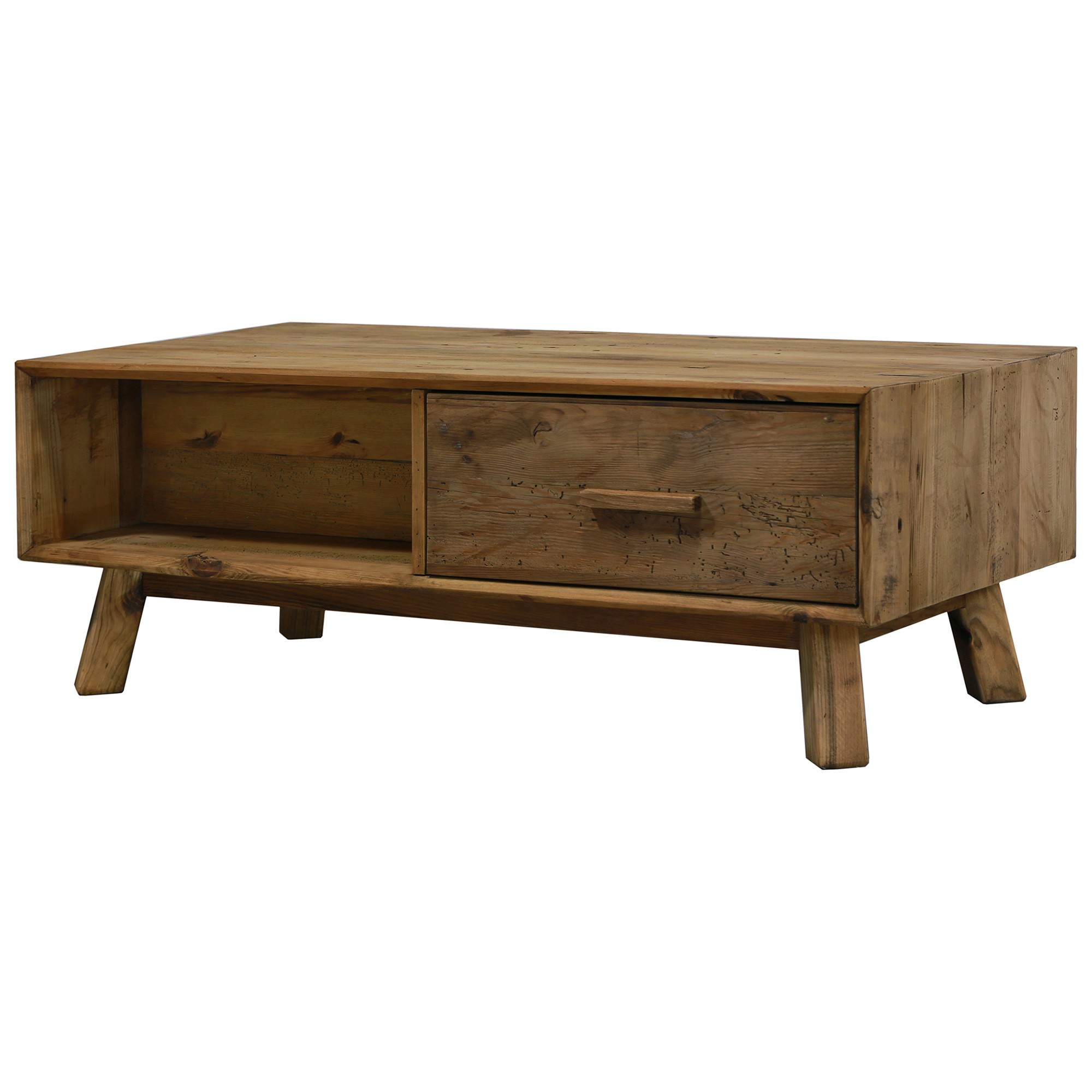 Mandalay Recycled Pine Timber Coffee Table, 122cm
