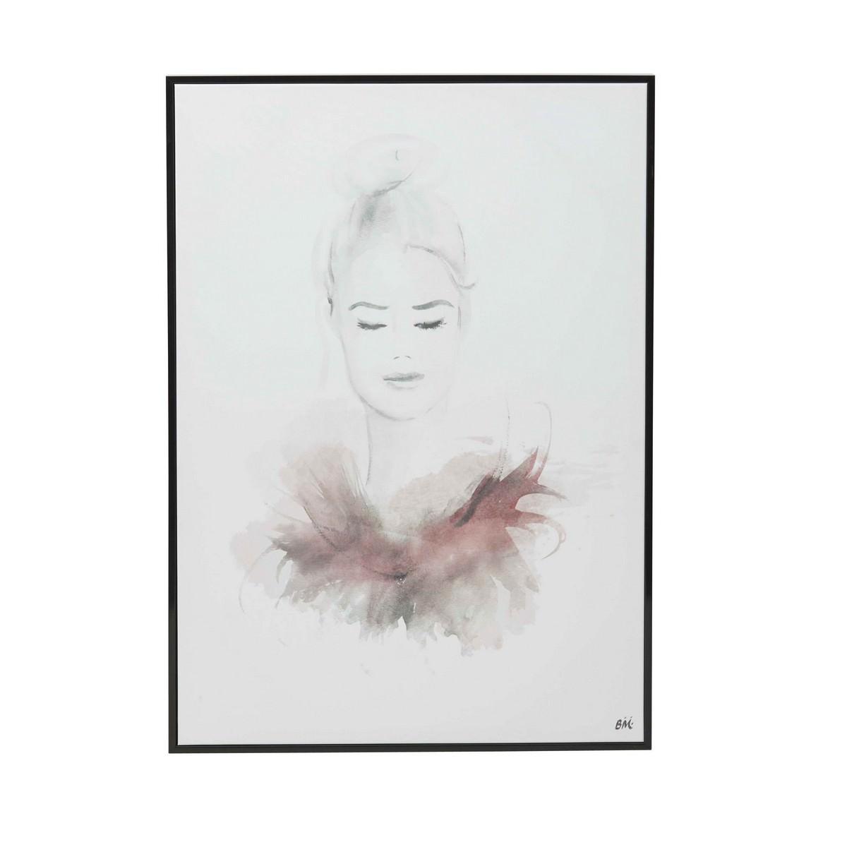 Scarlett Handmade Framed Canvas Wall Art, 70cm