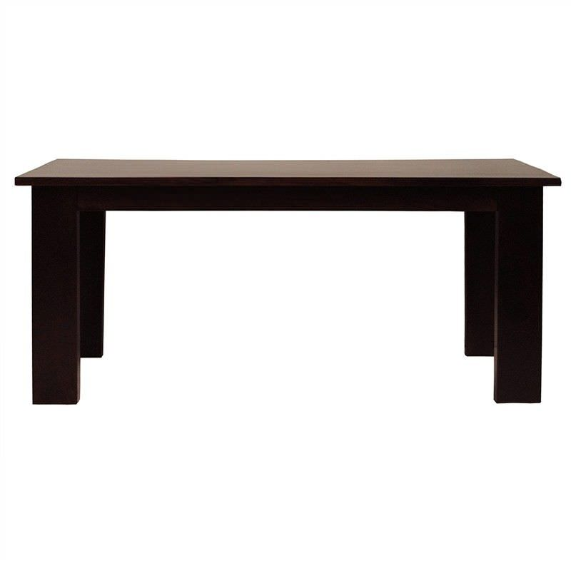 Neasham Solid Mango Wood Timber 180cm Dining Table - Dark Chocolate