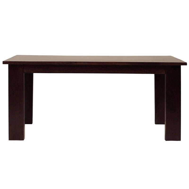 Neasham Solid Mango Wood Timber Dining Table, 220cm, Dark Chocolate