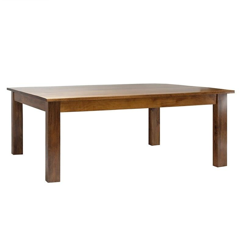 Neasham Solid Mango Wood Timber Dining Table, 220cm, Distressed Mango Teak