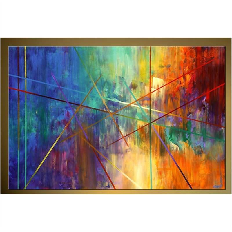 Splash of Colour 180x150cm - Hand painted