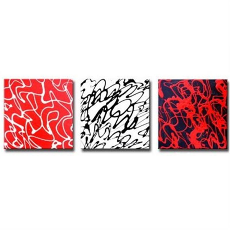 Squiggles Set of 3 Pieces - Hand Painted with Artist Signature