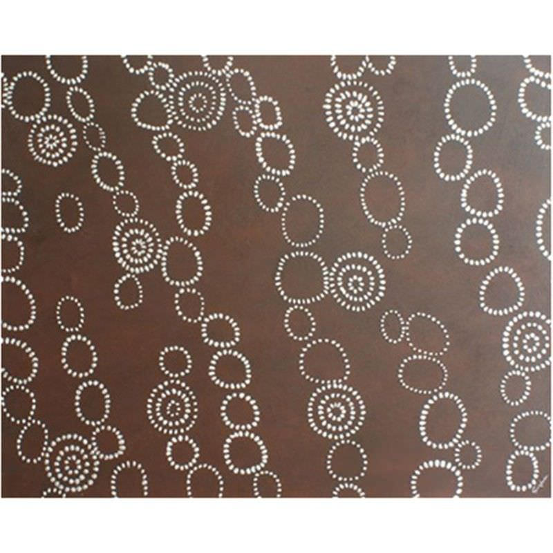 Hand Painted 150x120cm Stretched Canvas Wall Art with Artist Signature - Chainmail Brown