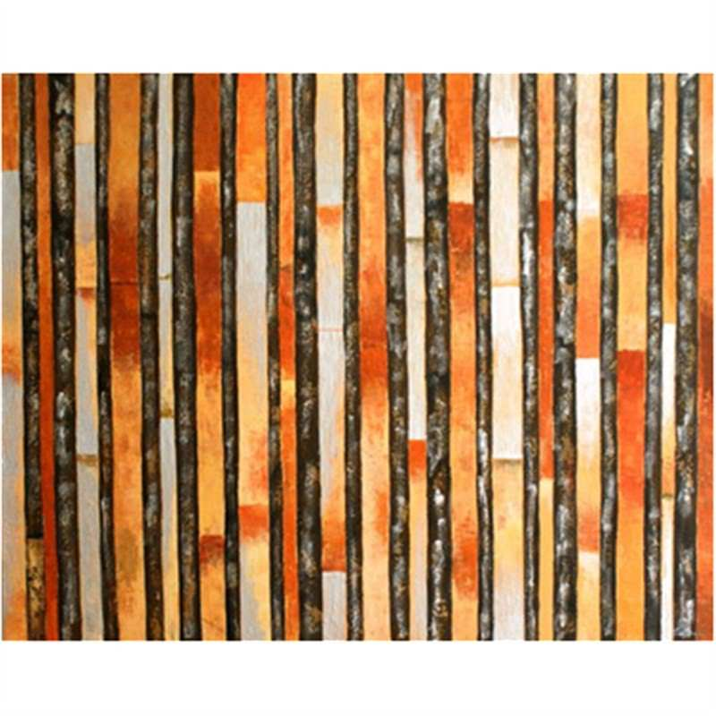 Coffee Stripes - Hand Painted with Artist Signature - 150x120cm