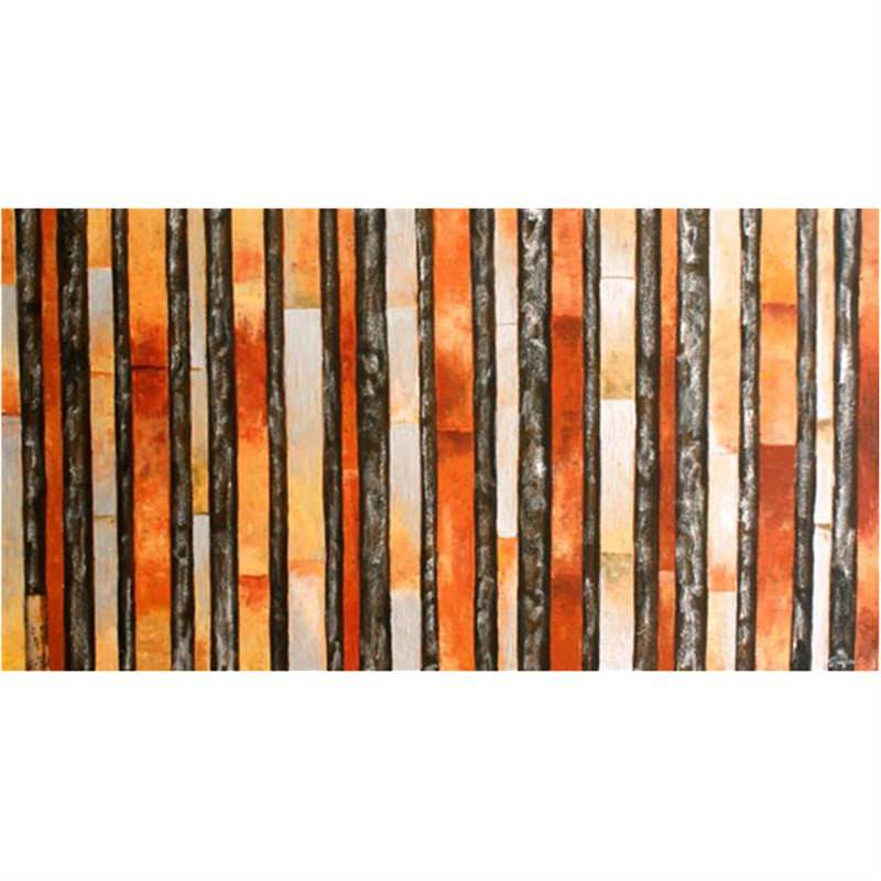 Coffee Stripes - Hand Painted with Artist Signature - 150x80cm